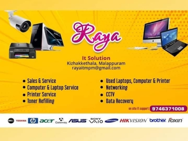 RAYA IT SOLUTION, SECURITY SYSTEMS,  service in Malappuram Town, Malappuram