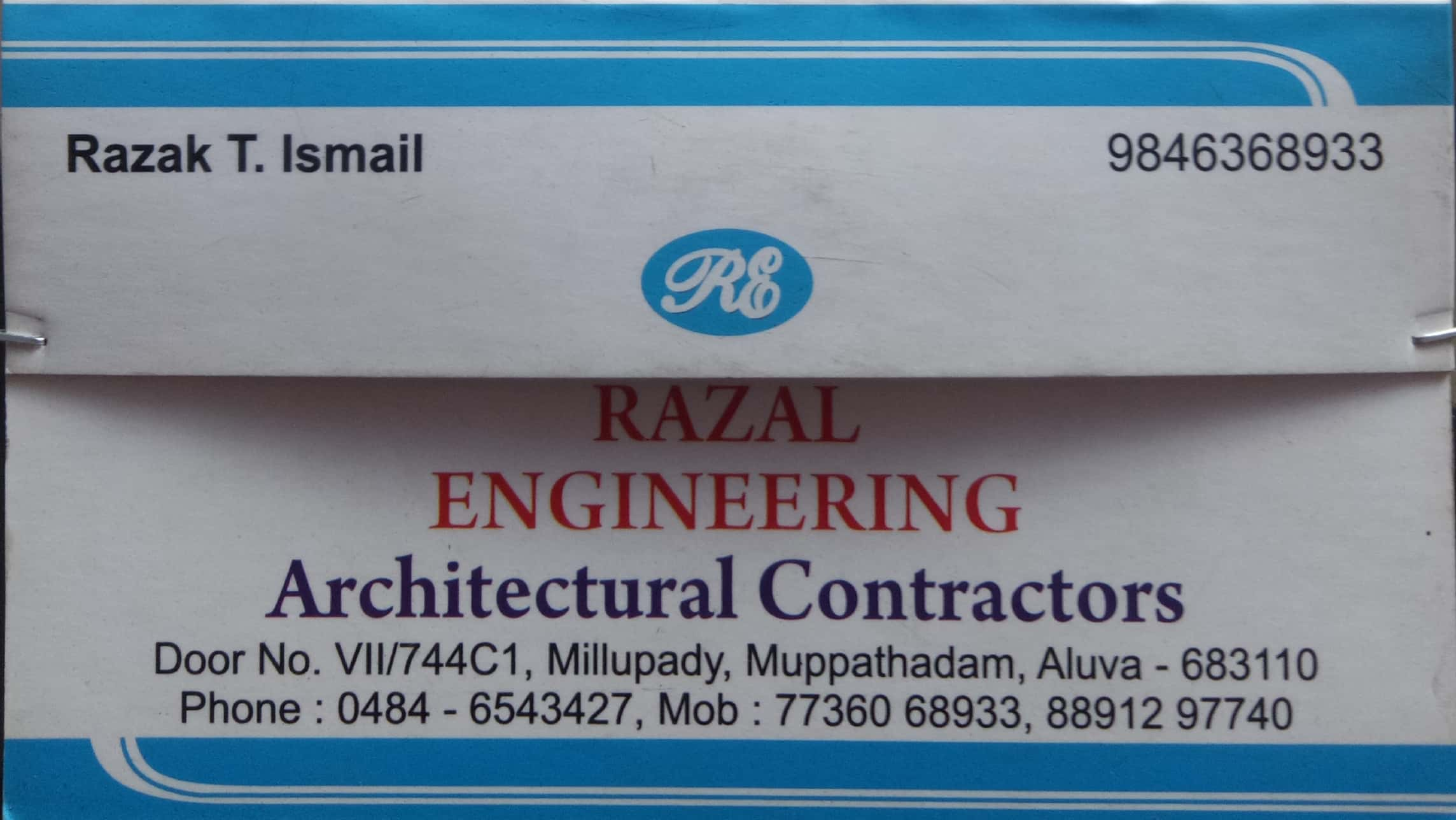 RAZAL ENGINEERING, CONTRACTOR,  service in Aluva, Ernakulam