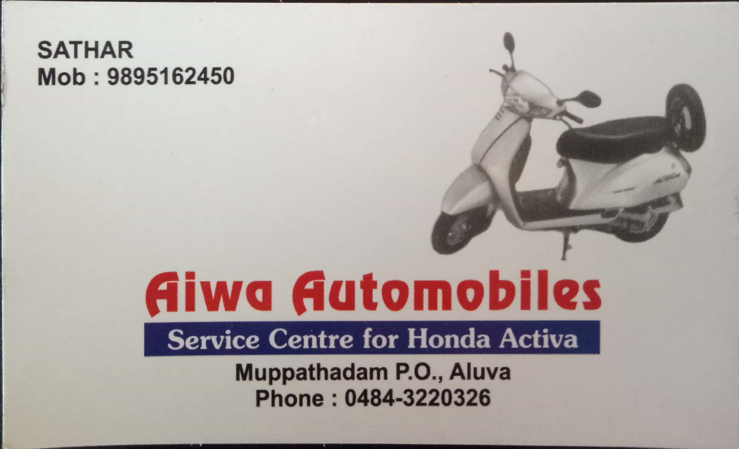 AIWA AUTOMOBILES, BIKE WORKSHOP,  service in Aluva, Ernakulam