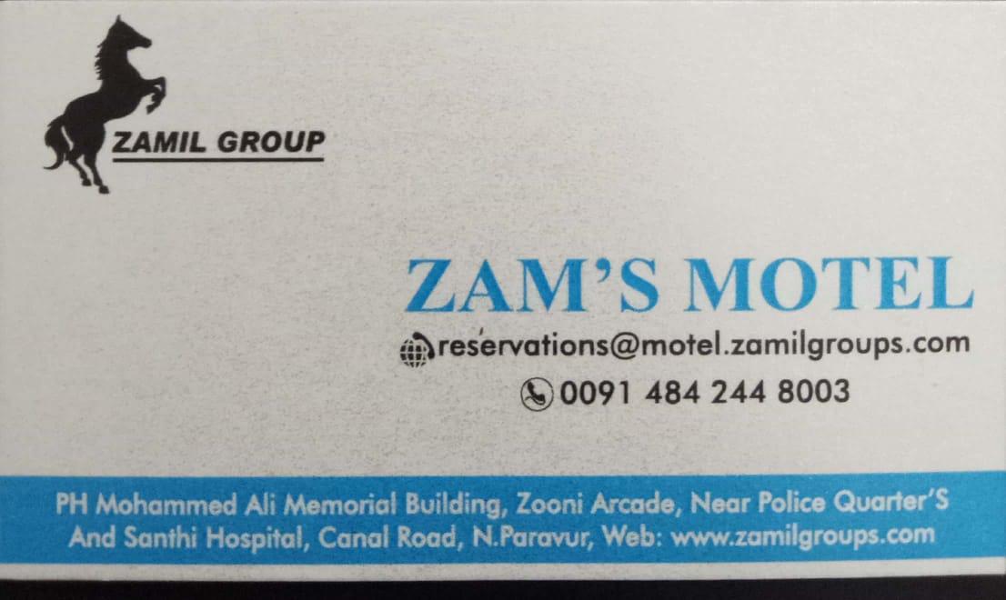 ZAM'S MOTEL, TOURIST HOME,  service in North Paravur, Ernakulam