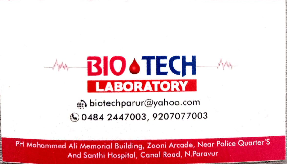 BIO TECH, LABORATORY,  service in North Paravur, Ernakulam