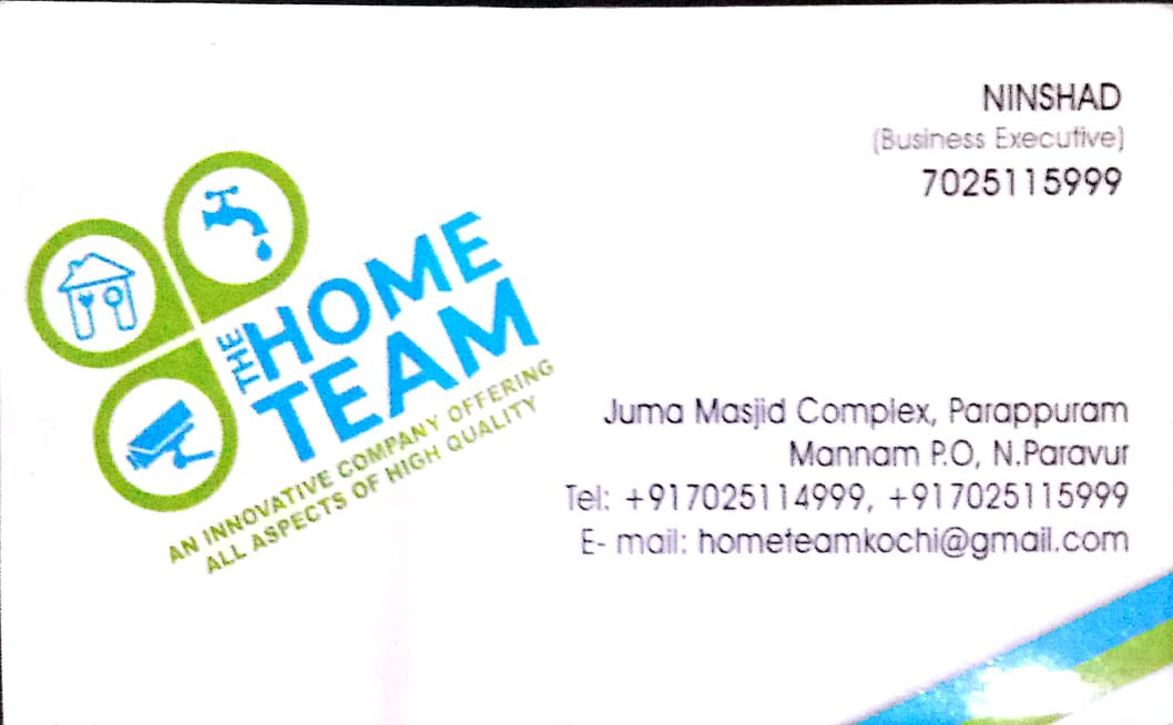HOME TEAM, CONTRACTOR,  service in North Paravur, Ernakulam
