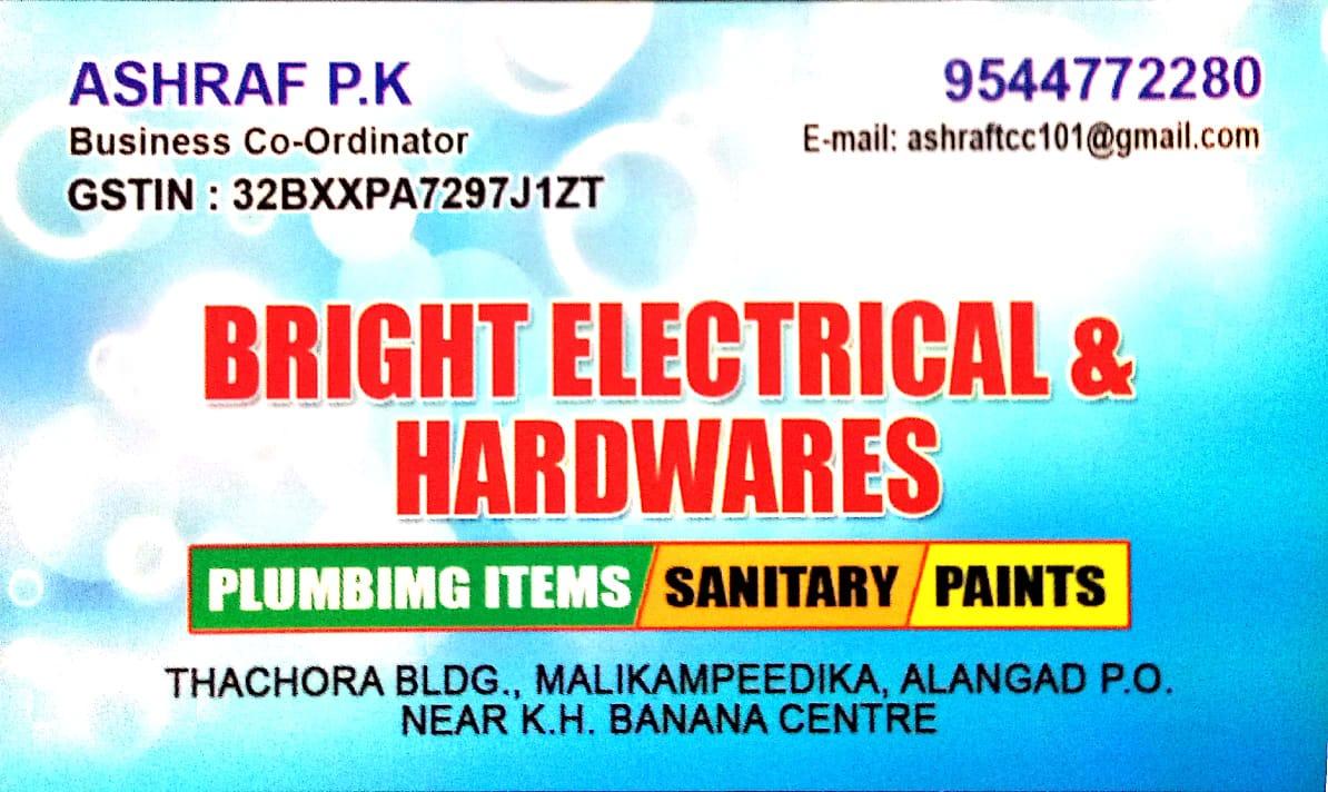 BRIGHT ELECTRICAL & HARDWARES, HARDWARE SHOP,  service in Aluva, Ernakulam