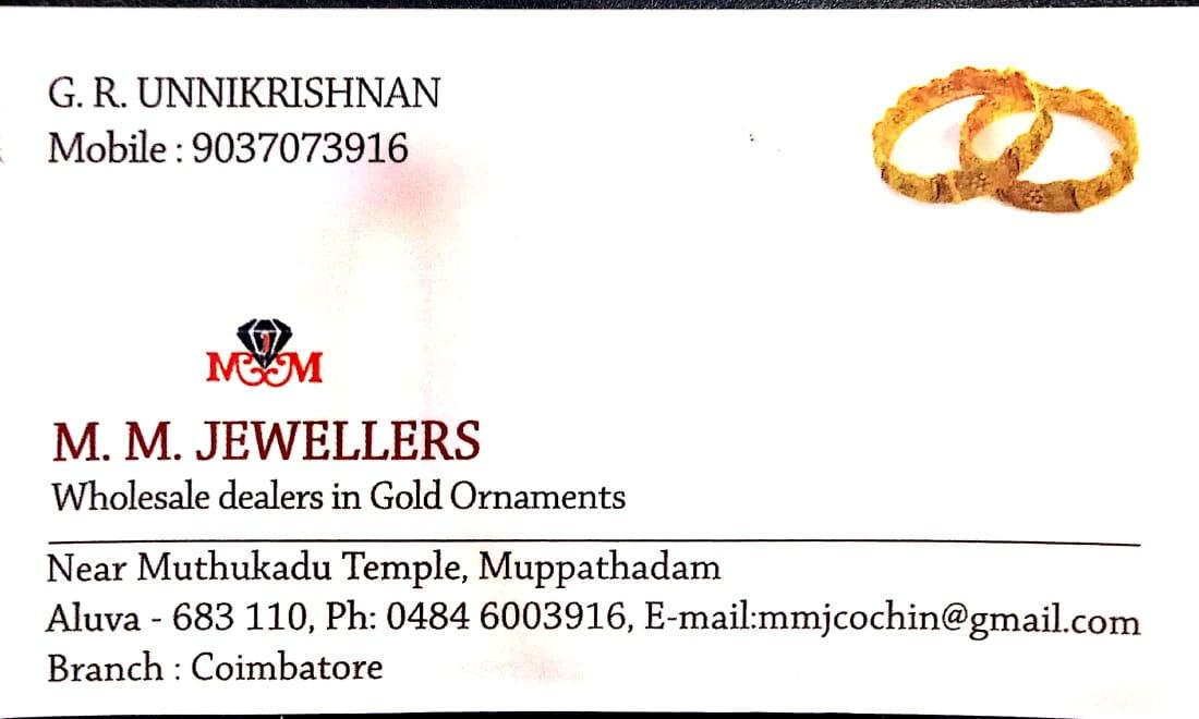 M M JEWELLERS, JEWELLERY,  service in Aluva, Ernakulam