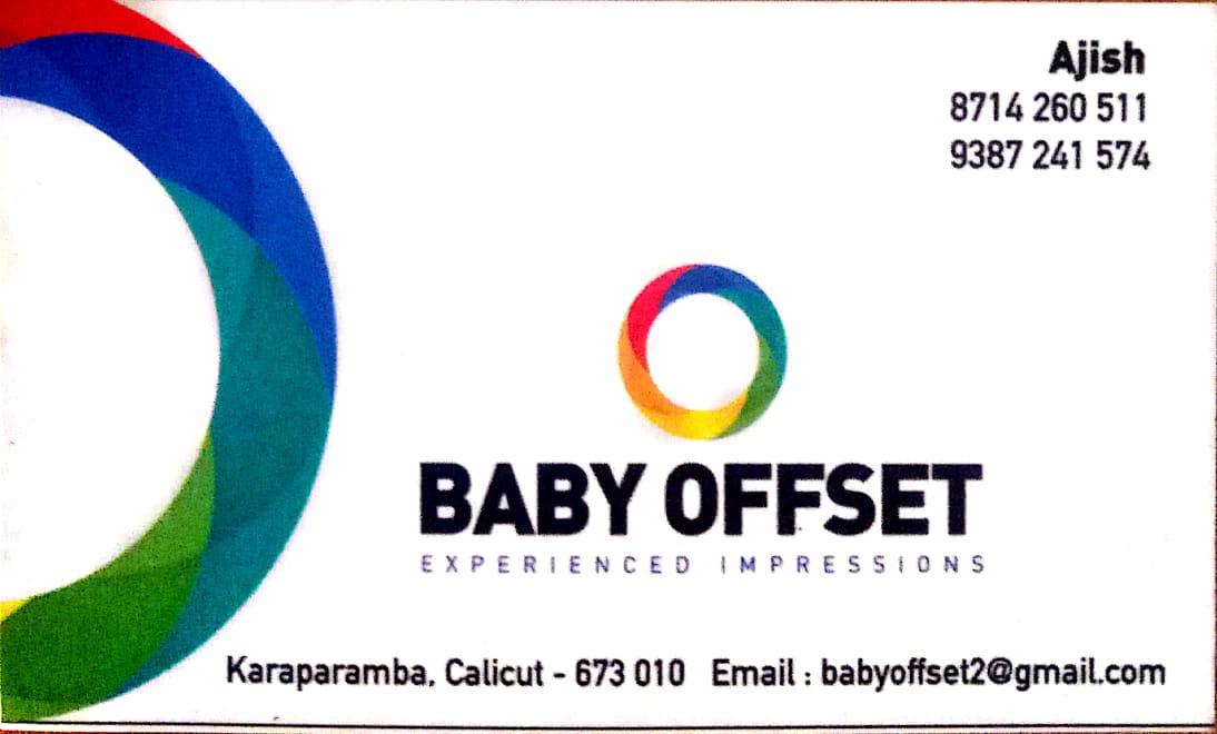 BABY OFFSET, PRINTING PRESS,  service in Karaparambu, Kozhikode