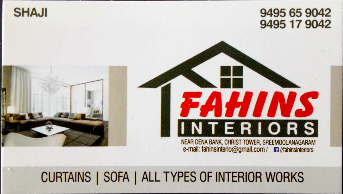 FAHINS INTERIORS, CURTAINS,  service in Kalady, Ernakulam