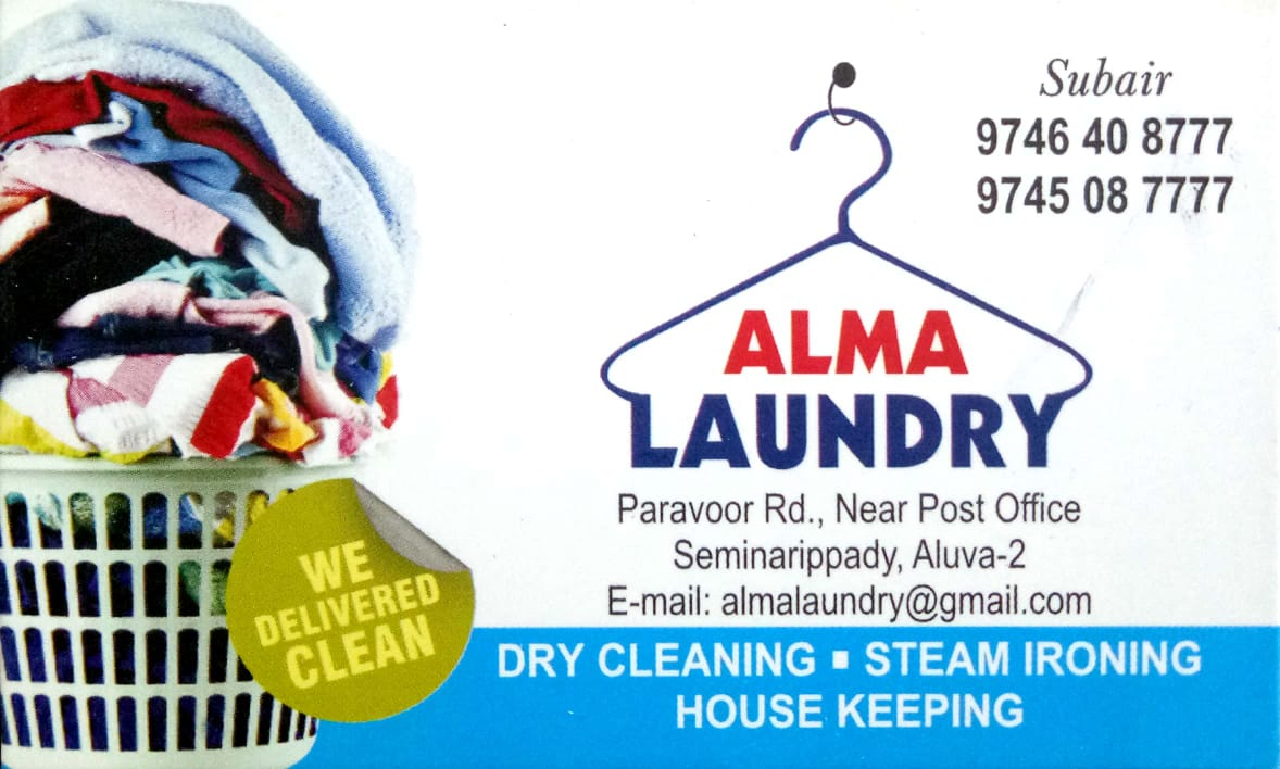 ALMA LAUNDRY, DRY CLEANING,  service in Aluva, Ernakulam