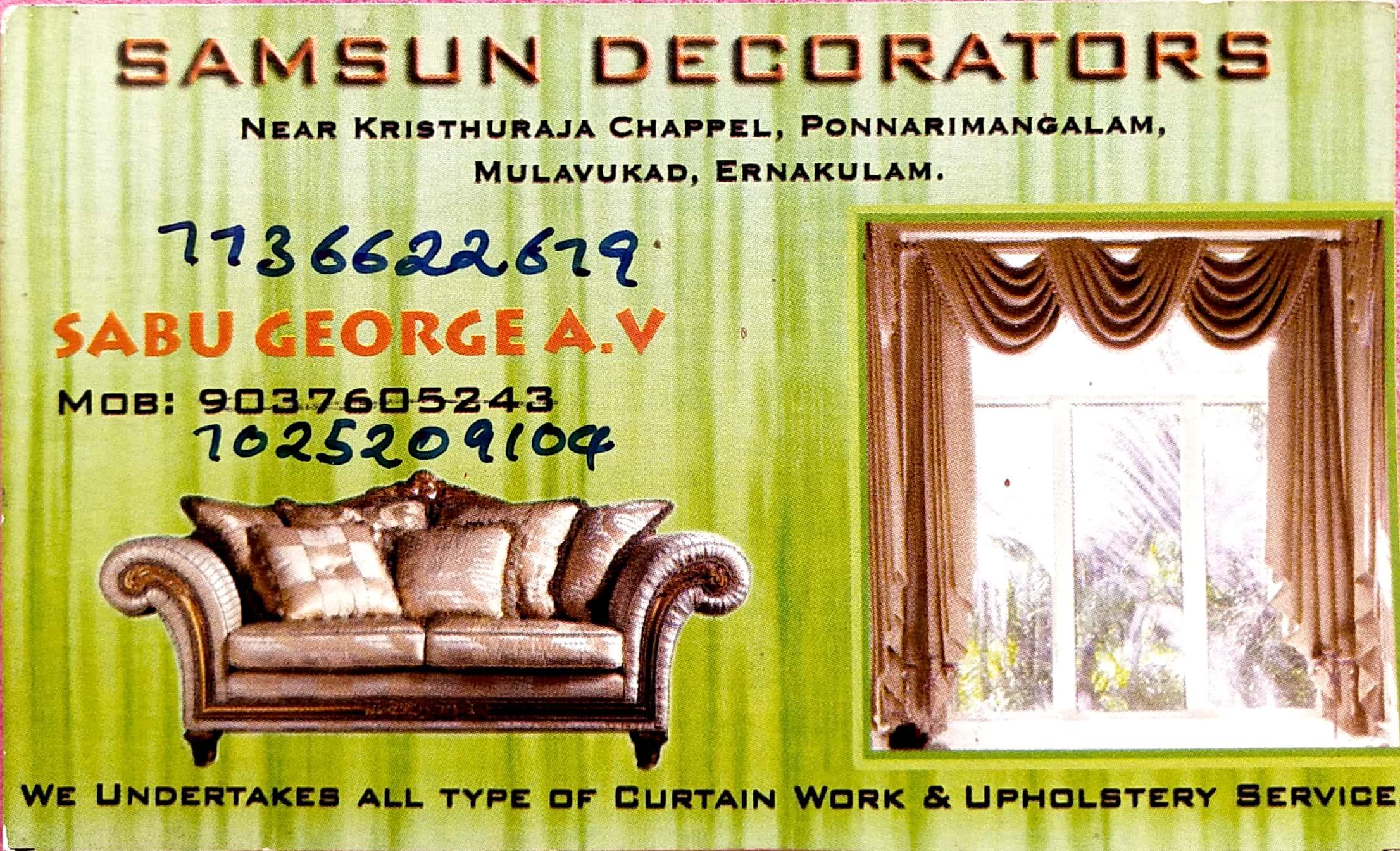 SAMSUN DECORATIONS, UPHOLSTERY WORKS,  service in Eranakulam, Ernakulam