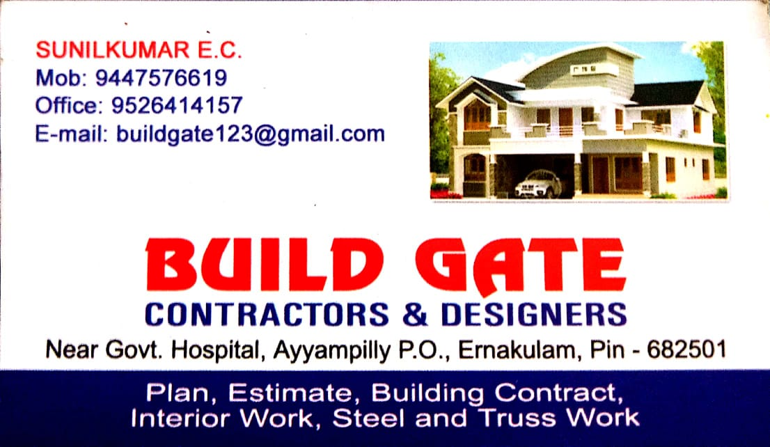 BUID GATE CONTRACTORS & DESIGNERS, CONSTRUCTION,  service in Cherai, Ernakulam