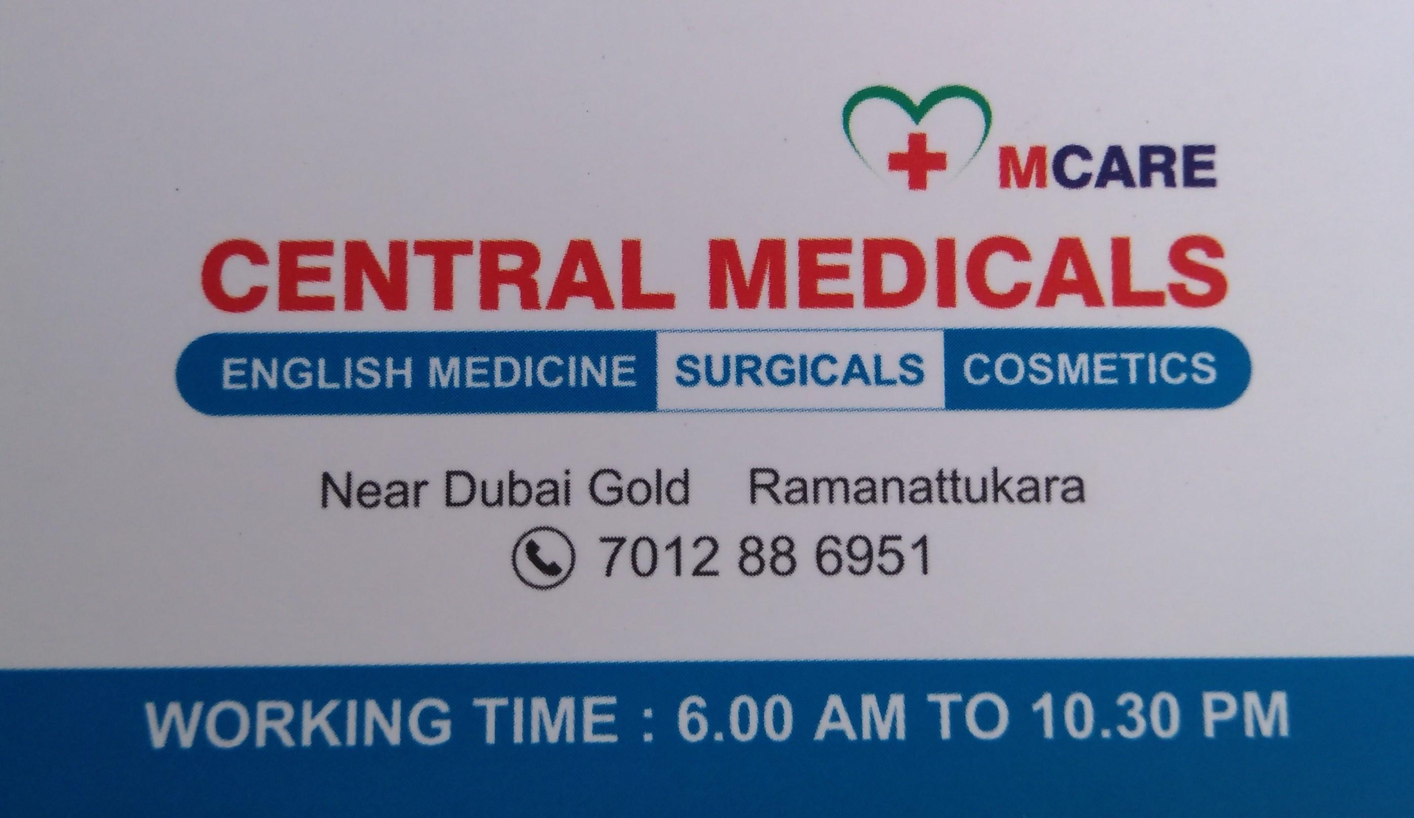 CENTRAL MEDICALS, MEDICAL SHOP,  service in Ramanattukara, Kozhikode