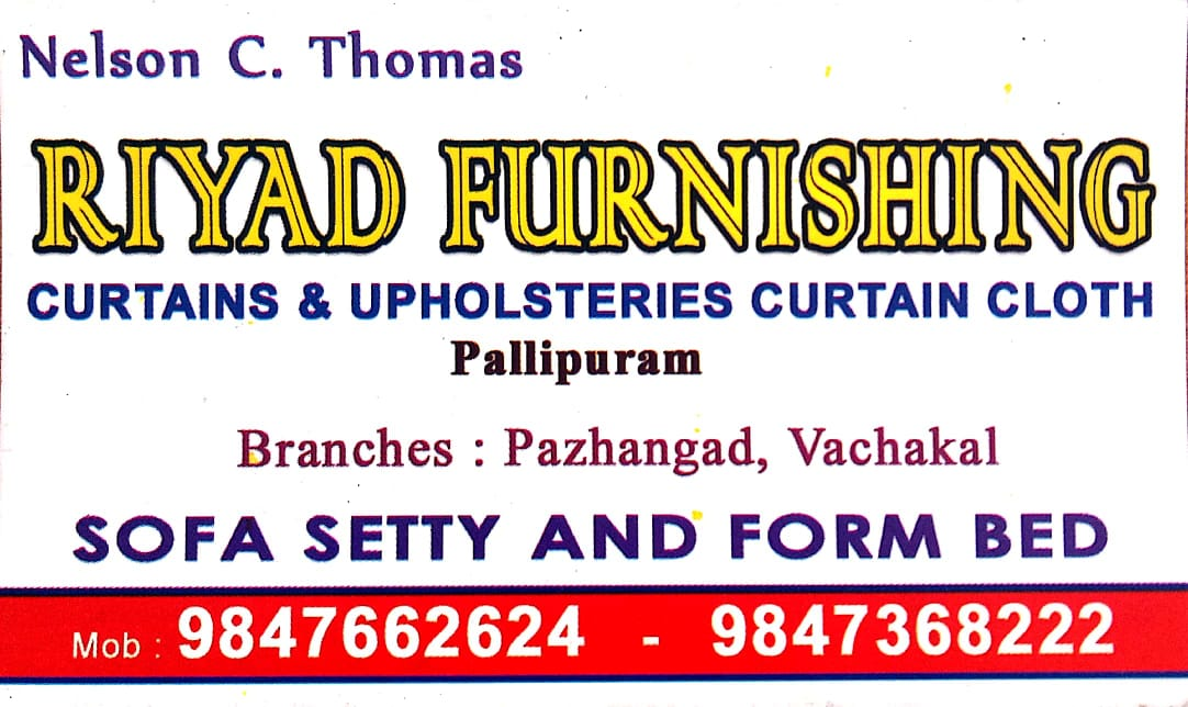 RIYAD FURNISHING, UPHOLSTERY WORKS,  service in Vypin, Ernakulam