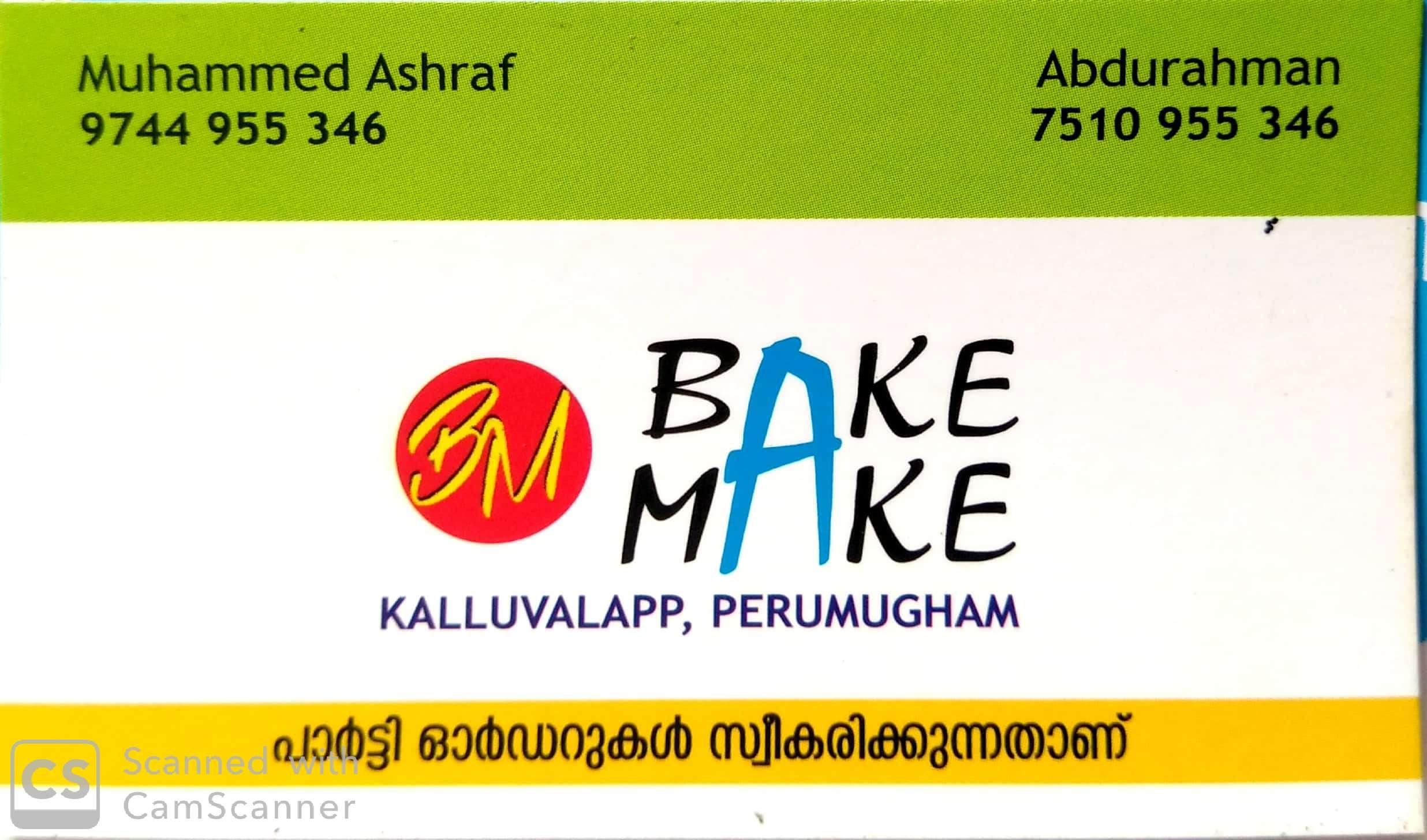 BAKE MAKE BAKERY, BAKERIES,  service in Farook, Kozhikode