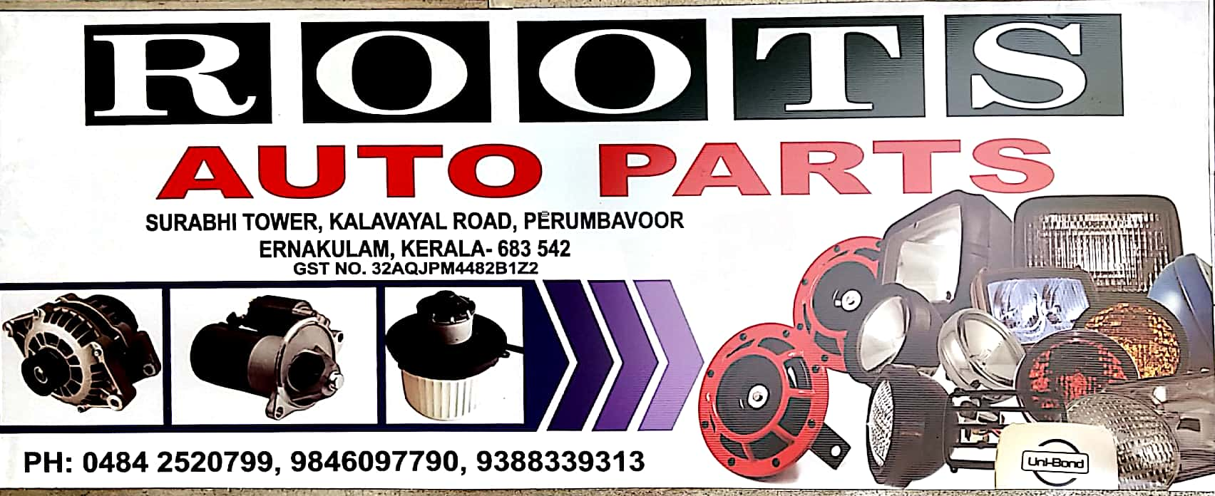 ROOTS AUTO PARTS, LUBES AND SPARE PARTS,  service in Perumbavoor, Ernakulam