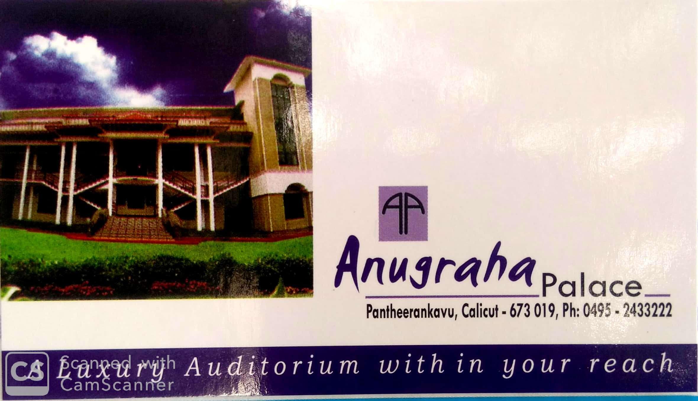 Anugraha palace, AUDITORIUM & HALLS,  service in Mankavu, Kozhikode