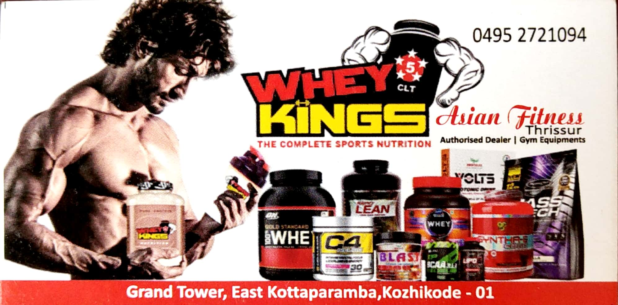 WHEY KINGS, FITNESS EQUIPMENT SHOP,  service in Arayidathupalam, Kozhikode