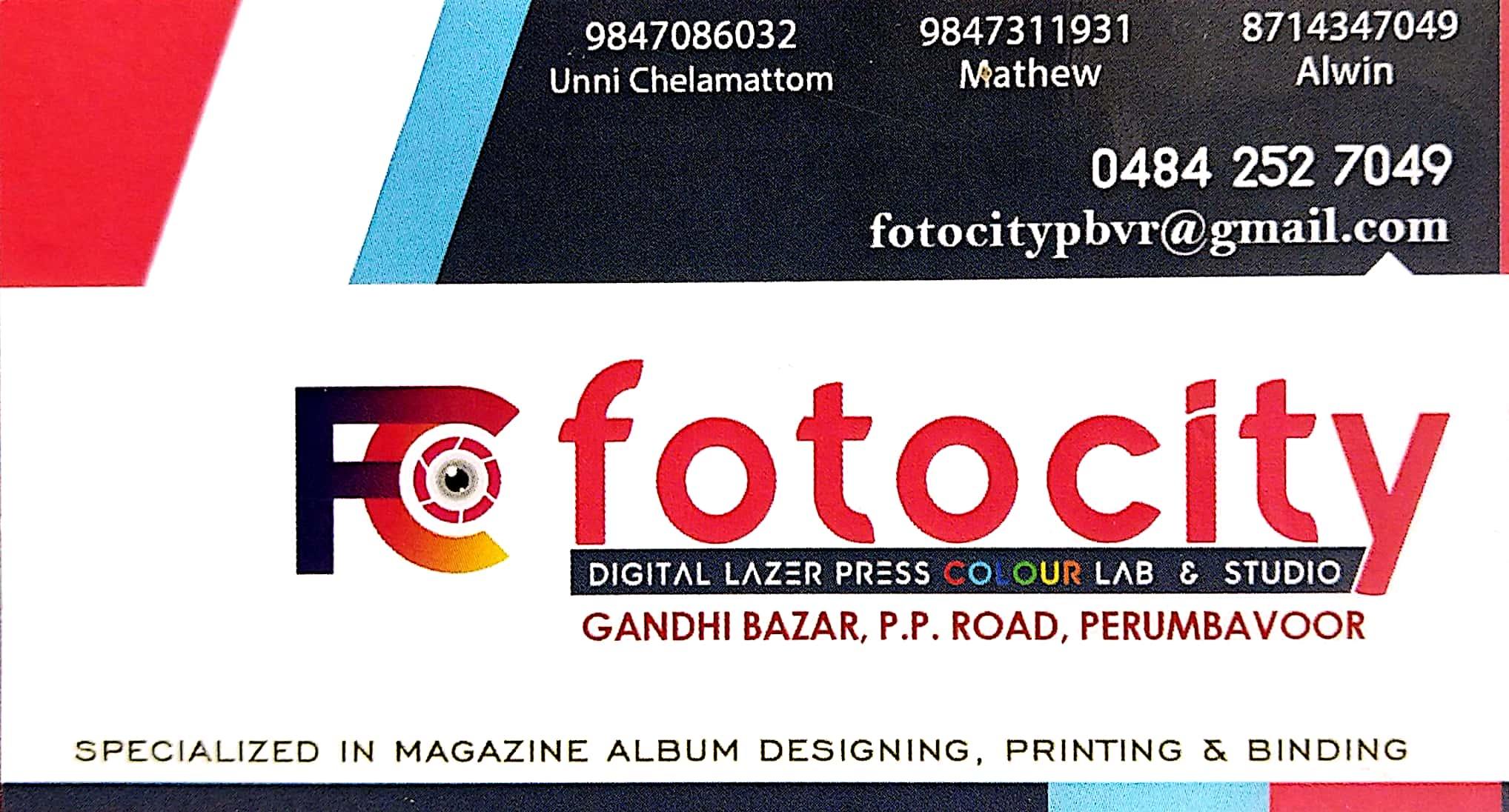 FOTO CITY, GRAPHICS & DIGITAL PRINTING,  service in Perumbavoor, Ernakulam