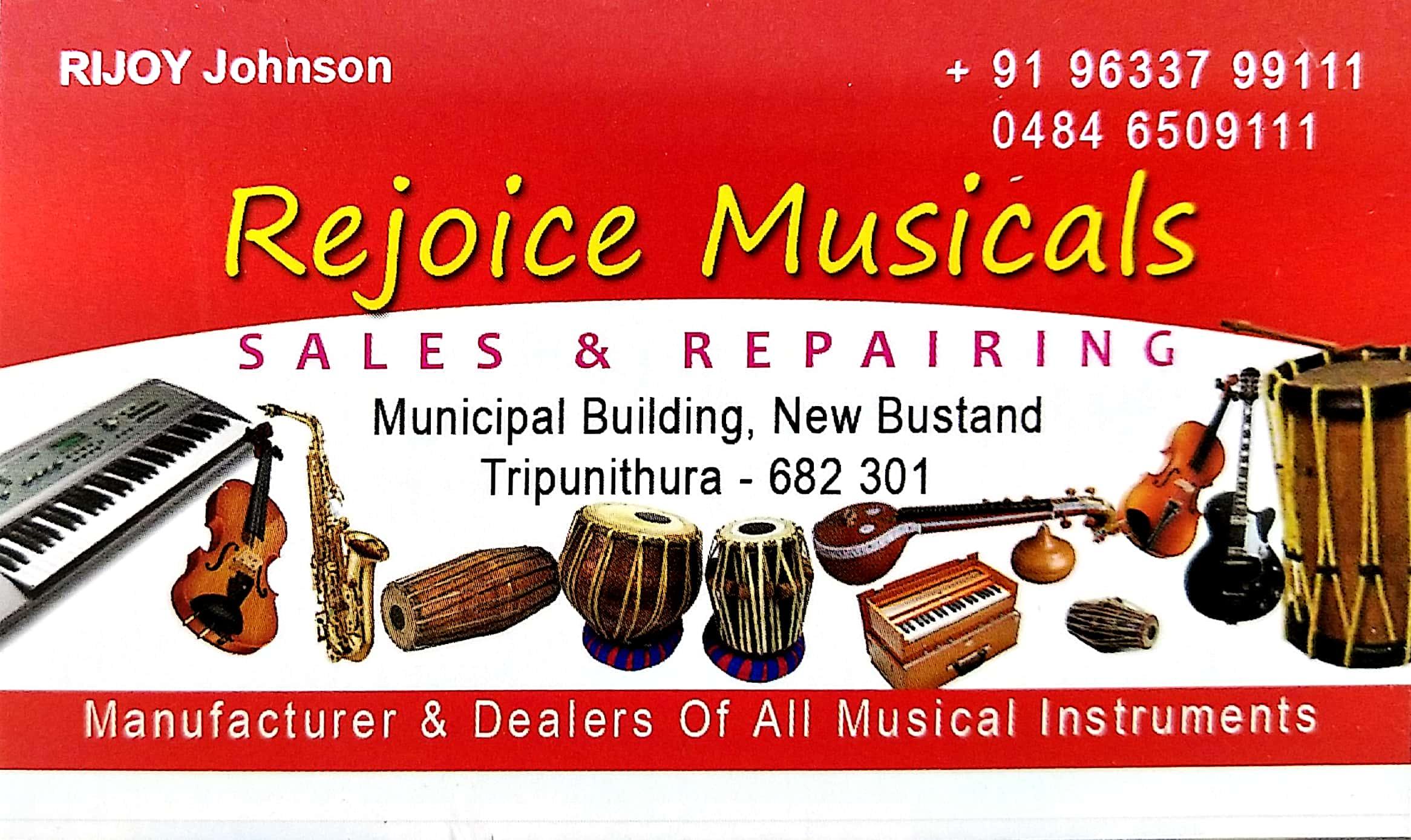 REJOICE MUSICAlS, MUSICAL INSTRUMENTS,  service in Thrippunithura, Ernakulam