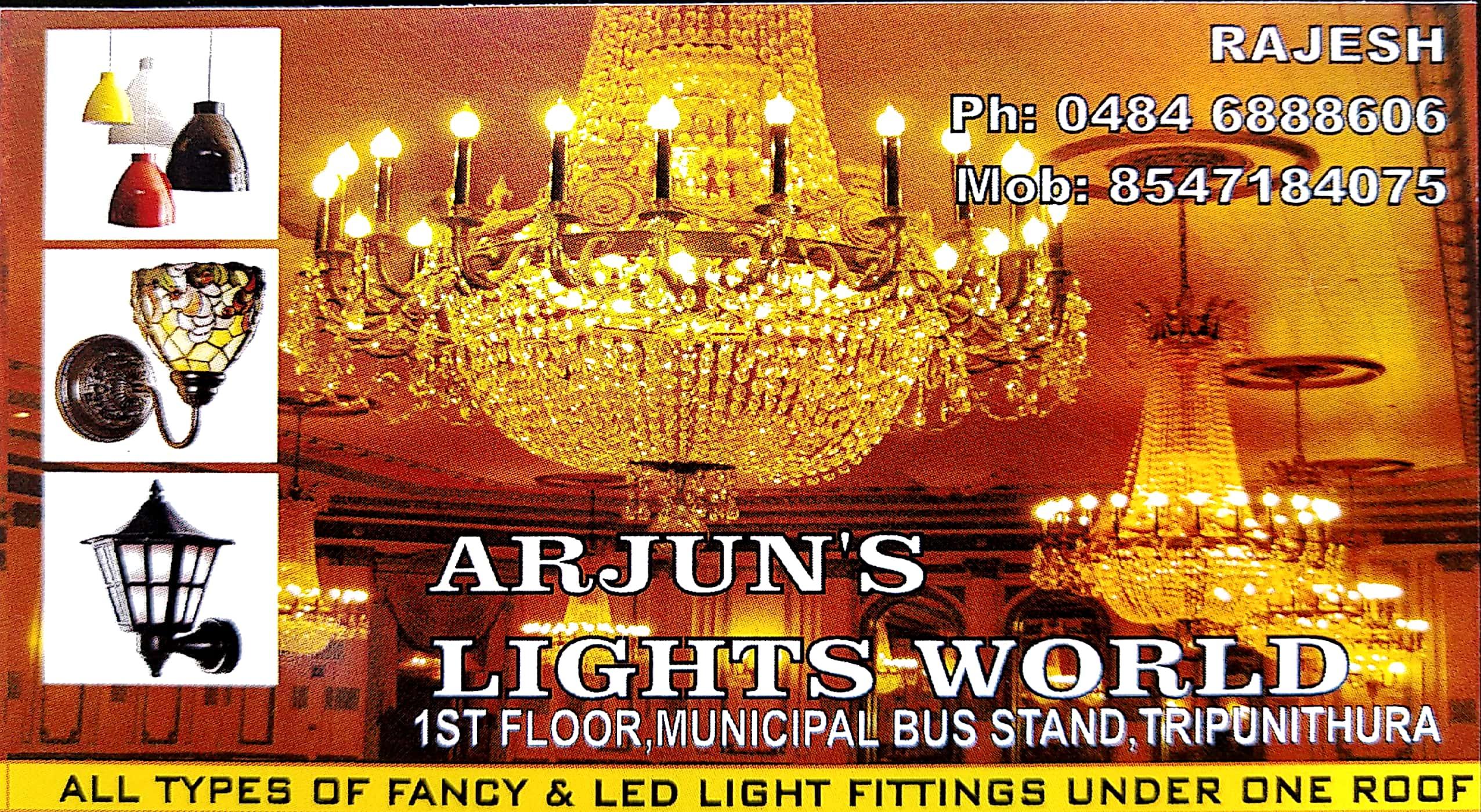 ARJUNS LIGHTS WORLD, LIGHT,  service in Thrippunithura, Ernakulam
