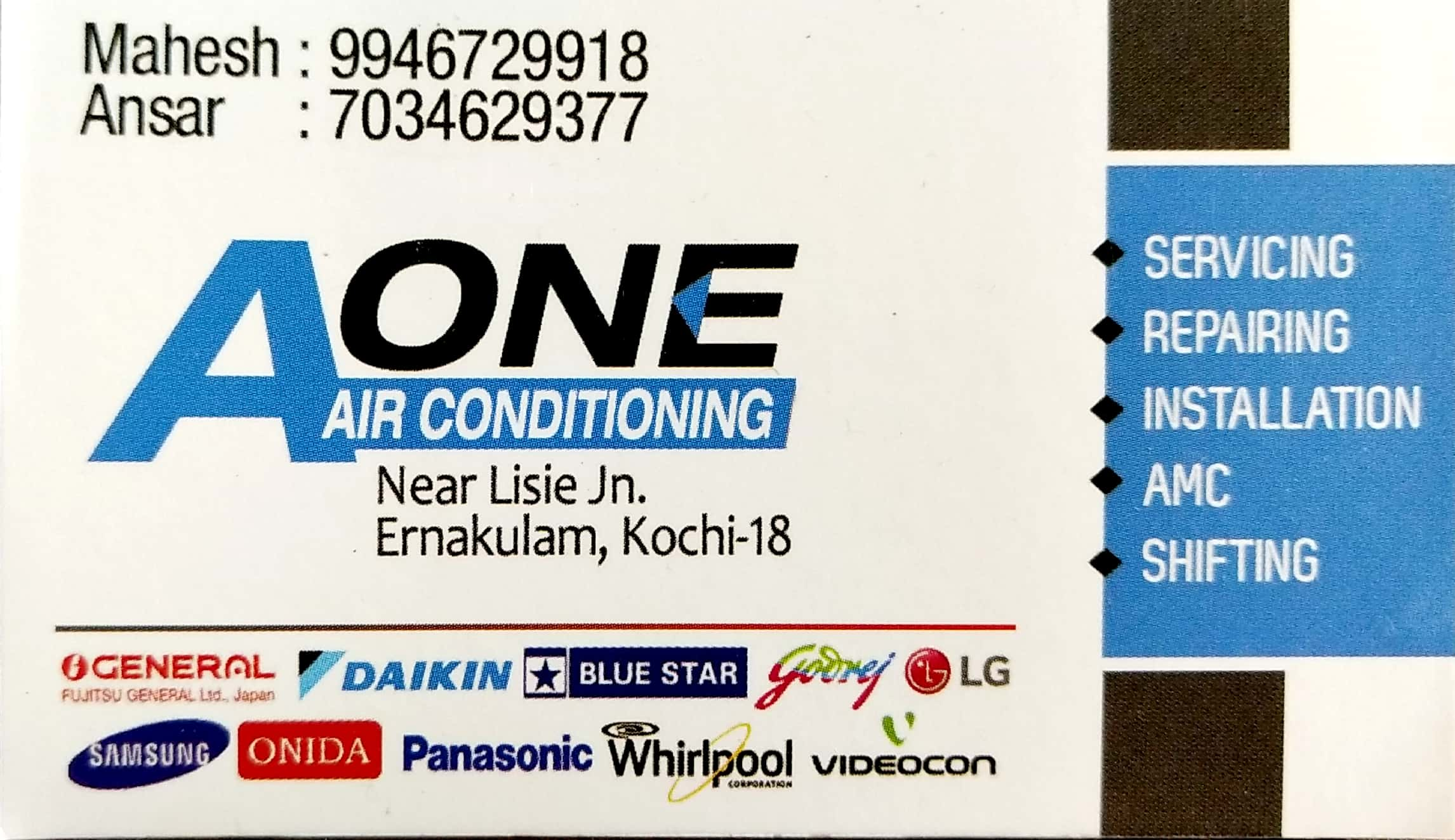 A ONE Air Conditioning, AC REFRIGERATION SALES & SERVICE,  service in Eranakulam, Ernakulam