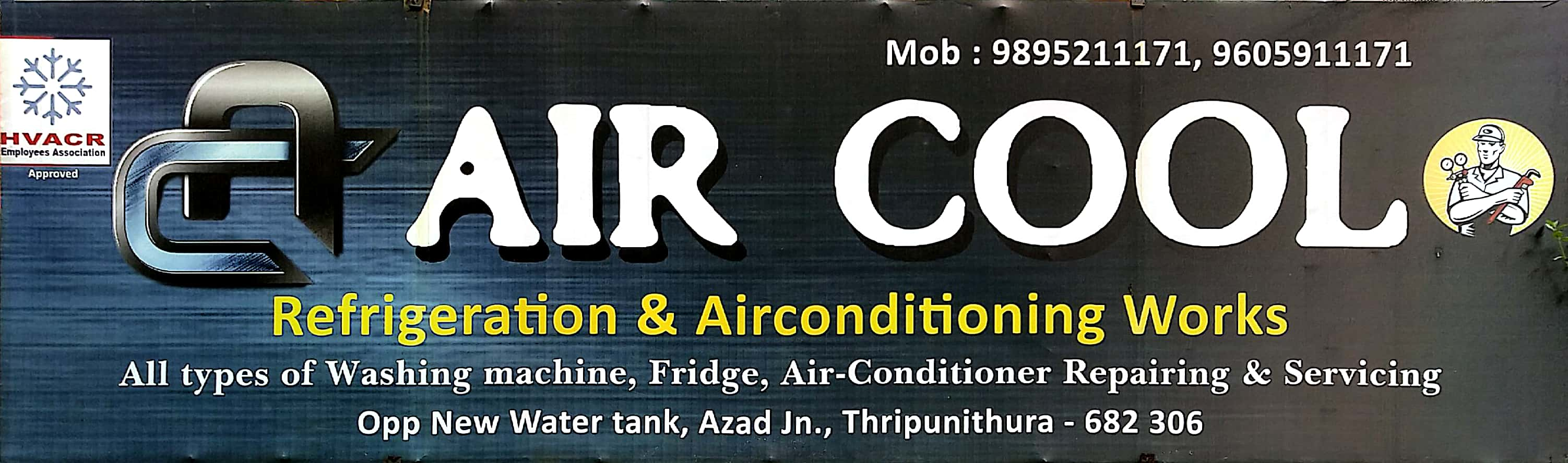 AIR COOL, AC REFRIGERATION SALES & SERVICE,  service in Thrippunithura, Ernakulam