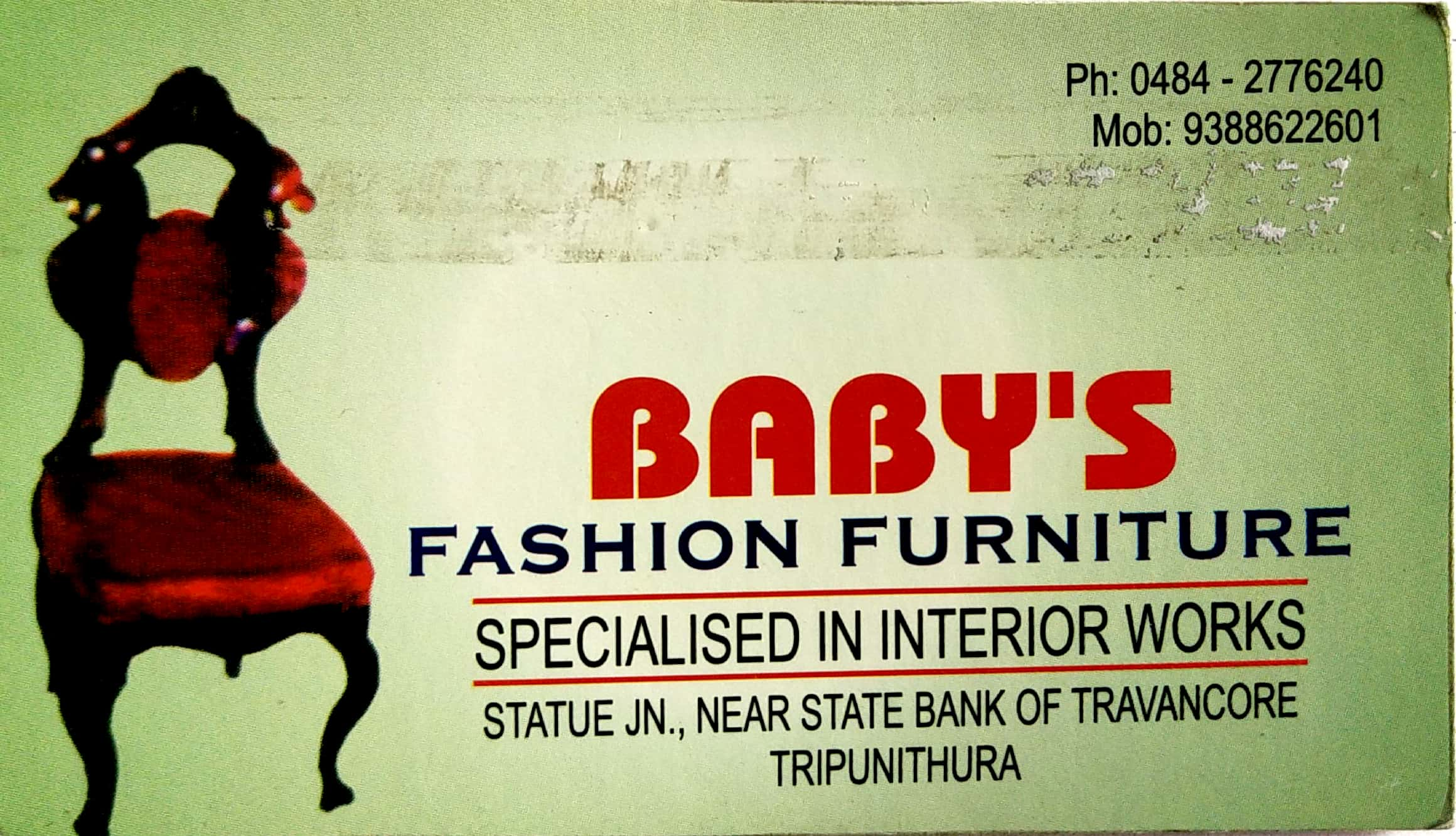 BABY'S Fashion Furniture, FURNITURE SHOP,  service in Thrippunithura, Ernakulam