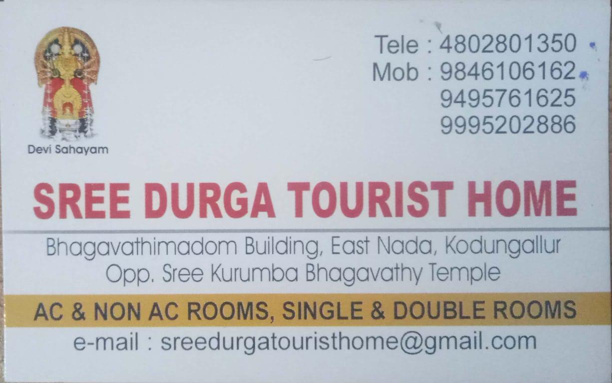 SREE DURGA TOURIST HOME, TOURIST HOME,  service in Kodungallur, Thrissur