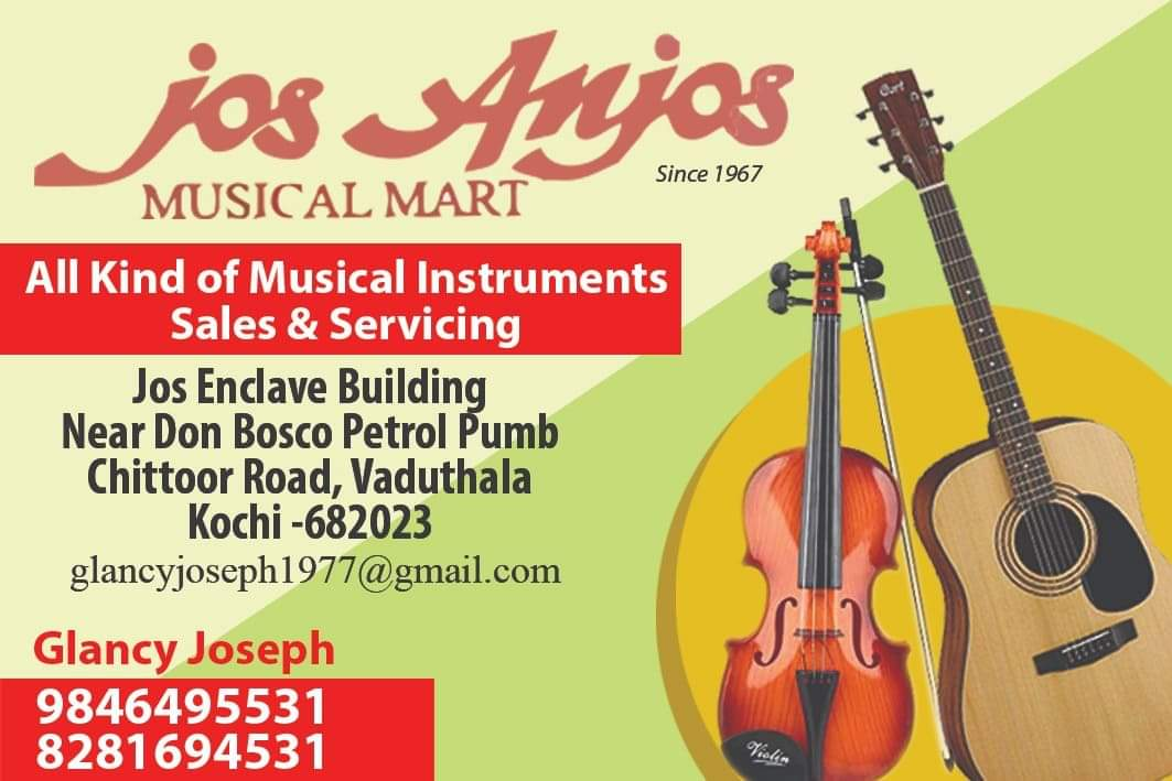 Jos Anjos Musical Mart MG Road Ernakulam, MUSICAL INSTRUMENTS,  service in M G Road, Ernakulam