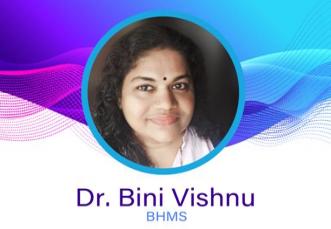 Dr. Bini Vishnu.  BHMS, HOMEOPATHy DOCTORS,  service in Kakkodi, Kozhikode