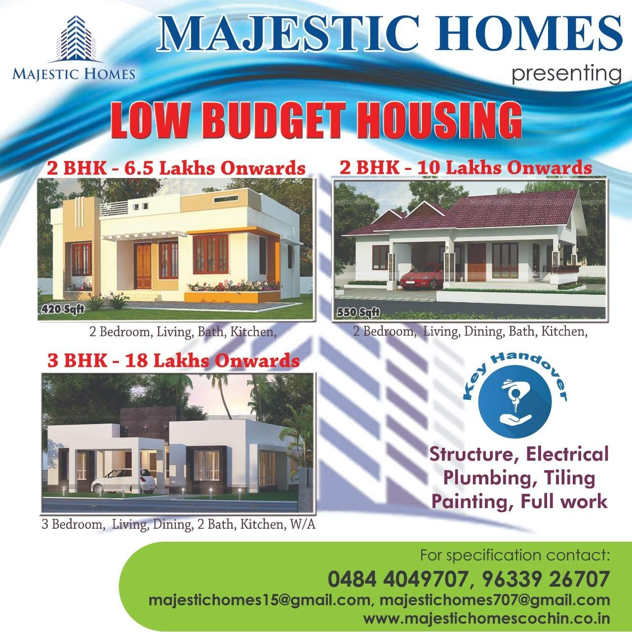 Majestic Homes, CONTRACTOR,  service in Ranni, Pathanamthitta