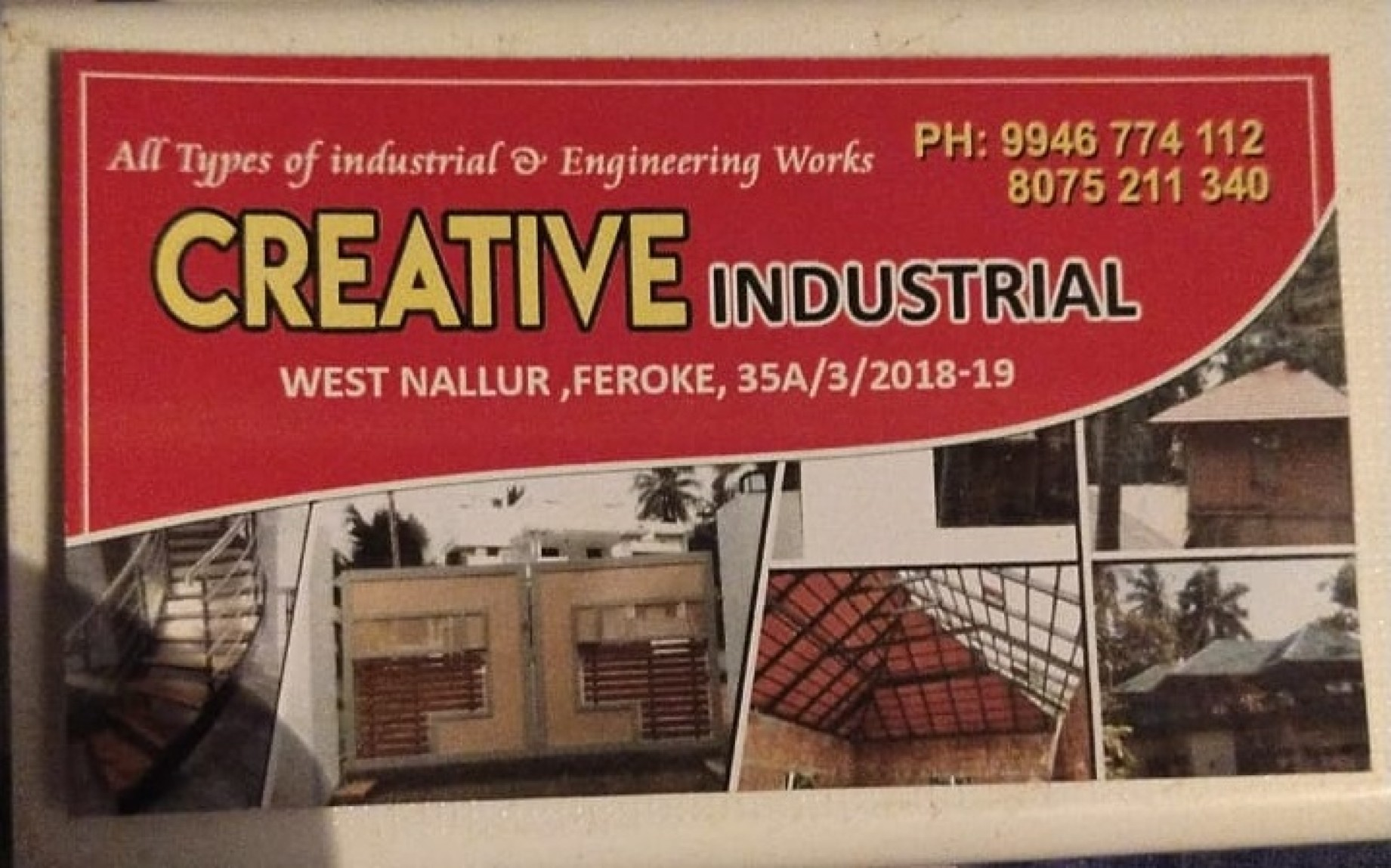 CREATIVE  INDUSTRIAL, METAL FABRICATION,  service in Farook, Kozhikode