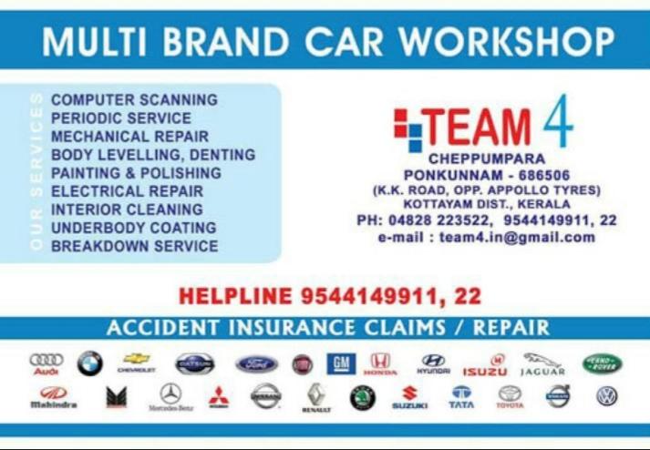 Bosch Multi Car Workshop, CAR WORKSHOP,  service in Ponkunnam, Kottayam