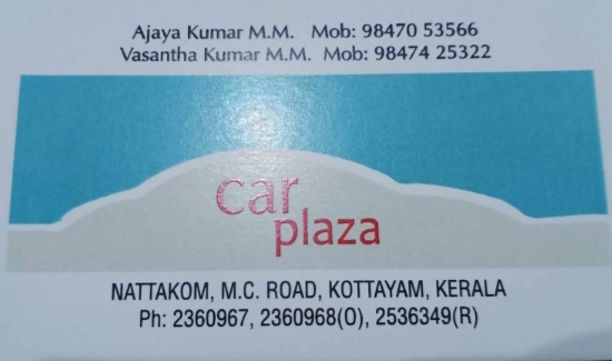 Car Plaza, USED CARS,  service in Nattakom, Kottayam