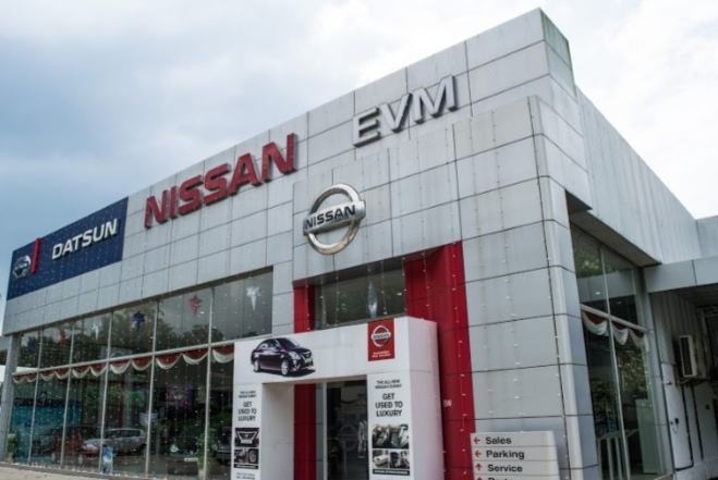 EVM Nissan, CAR SHOWROOM,  service in Thellakom, Kottayam