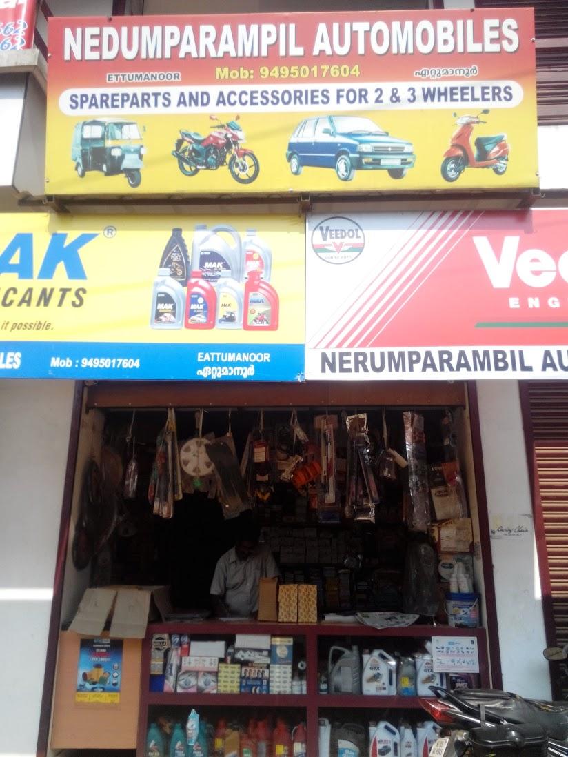 Nedumparampil Automobiles, LUBES AND SPARE PARTS,  service in Ettumanoor, Kottayam
