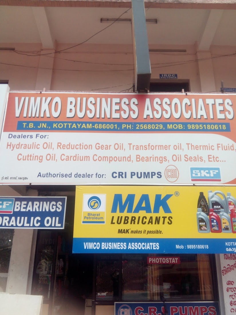 Vimko Business Associates, LUBES AND SPARE PARTS,  service in Kottayam, Kottayam