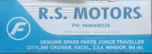 R S Motors Genuine Parts For Force Motors, LUBES AND SPARE PARTS,  service in Thodupuzha, Idukki