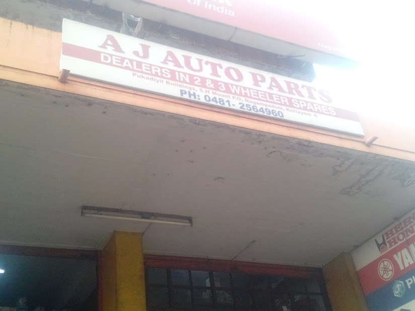 A J Auto Parts, LUBES AND SPARE PARTS,  service in Nagambadam, Kottayam