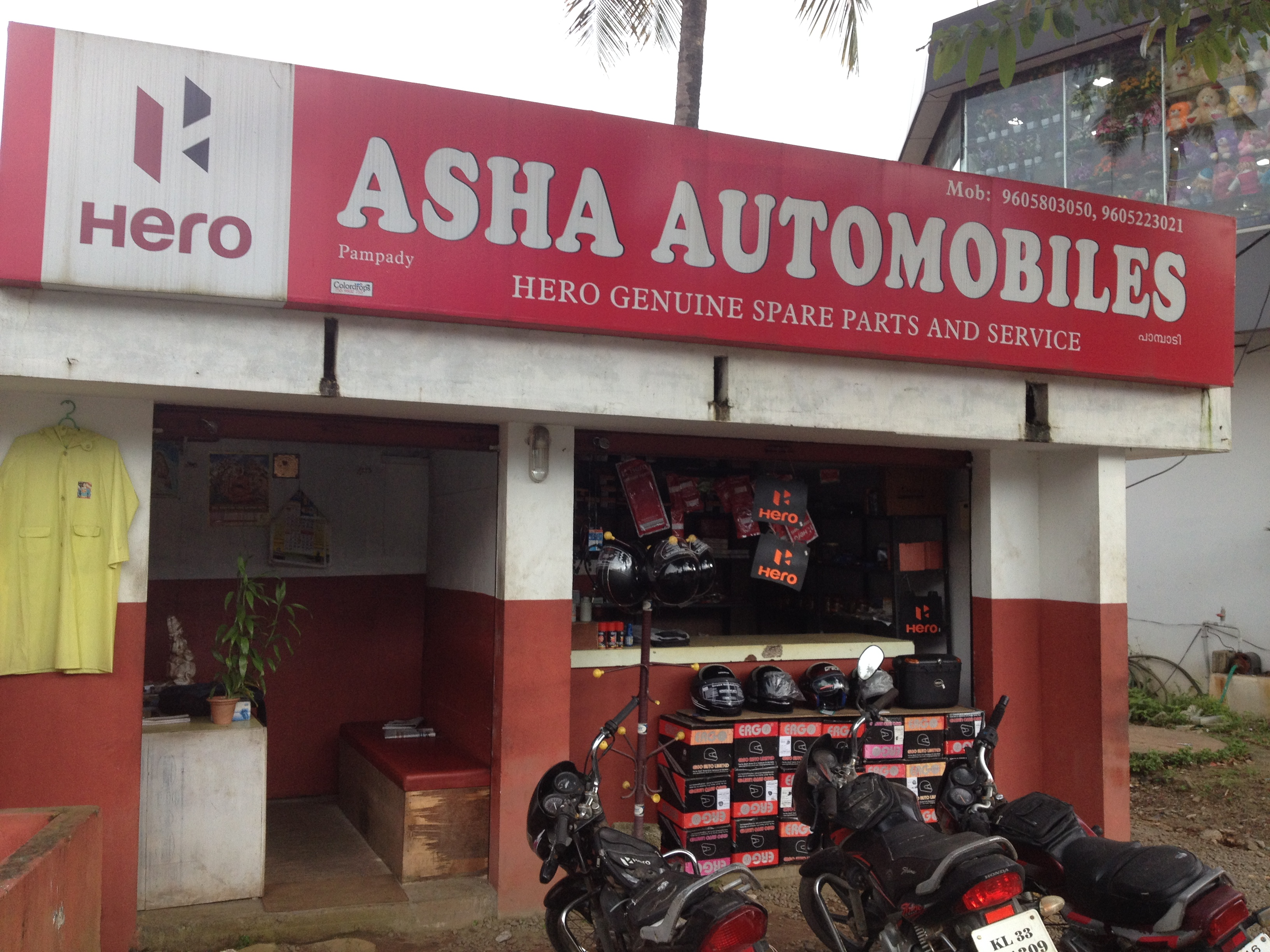 ASHA AUTOMOBILE PAMPADY, LUBES AND SPARE PARTS,  service in Pampady, Kottayam