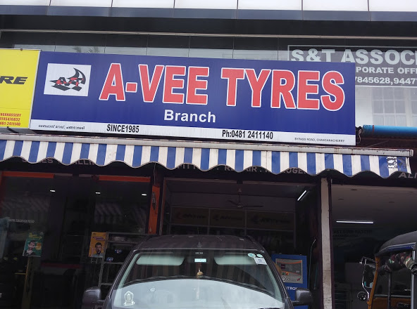 A-VEE TYRES, LUBES AND SPARE PARTS,  service in Changanasserry, Kottayam