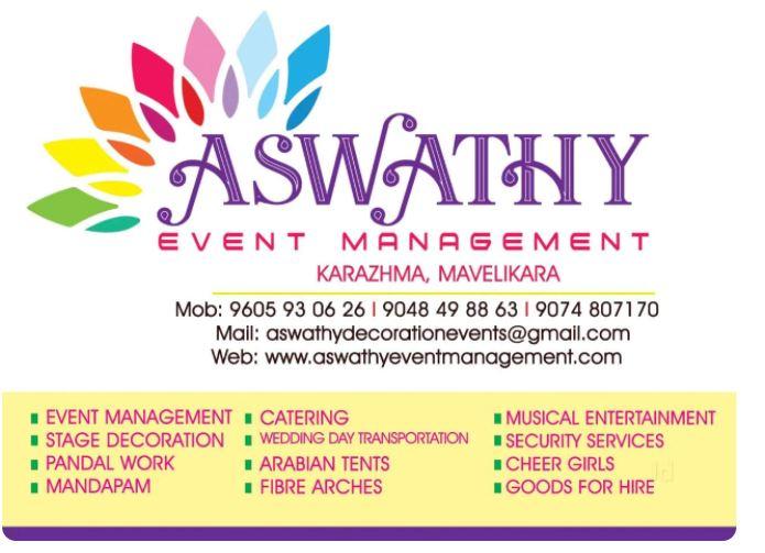Aswathy Event Management, CATERING SERVICES,  service in Mavelikkara, Alappuzha
