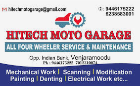 HITECH MOTO GARAGE, WORKSHOP,  service in Thiruvananthapuram, Thiruvananthapuram