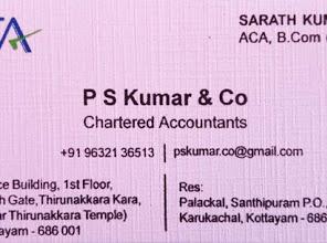 P S Kumar & Co, TAX CONSULTANT,  service in Kottayam, Kottayam