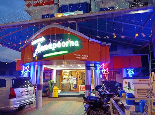 Hotel Annapoorna, VEGETARIAN,  service in Thellakom, Kottayam