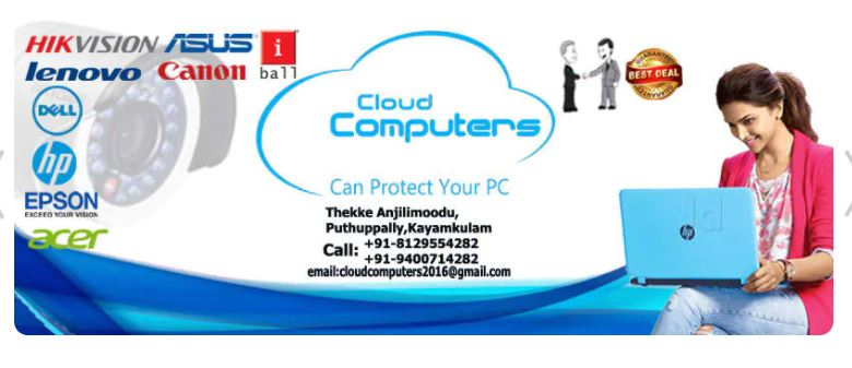 Cloud Computers, LAPTOP & COMPUTER SERVICES,  service in Kayamkulam, Alappuzha