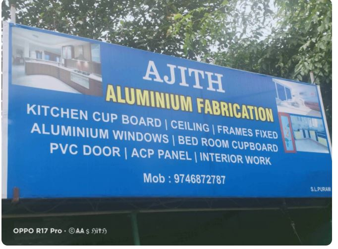Ajith Aluminium Fabrication, METAL FABRICATION,  service in S L Puram Post Office (Sethu Lekshmi Puram), Alappuzha