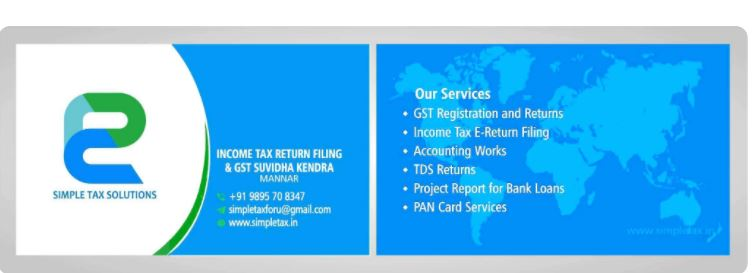 Simple Tax Solutions, TAX CONSULTANTS,  service in Mannar, Alappuzha