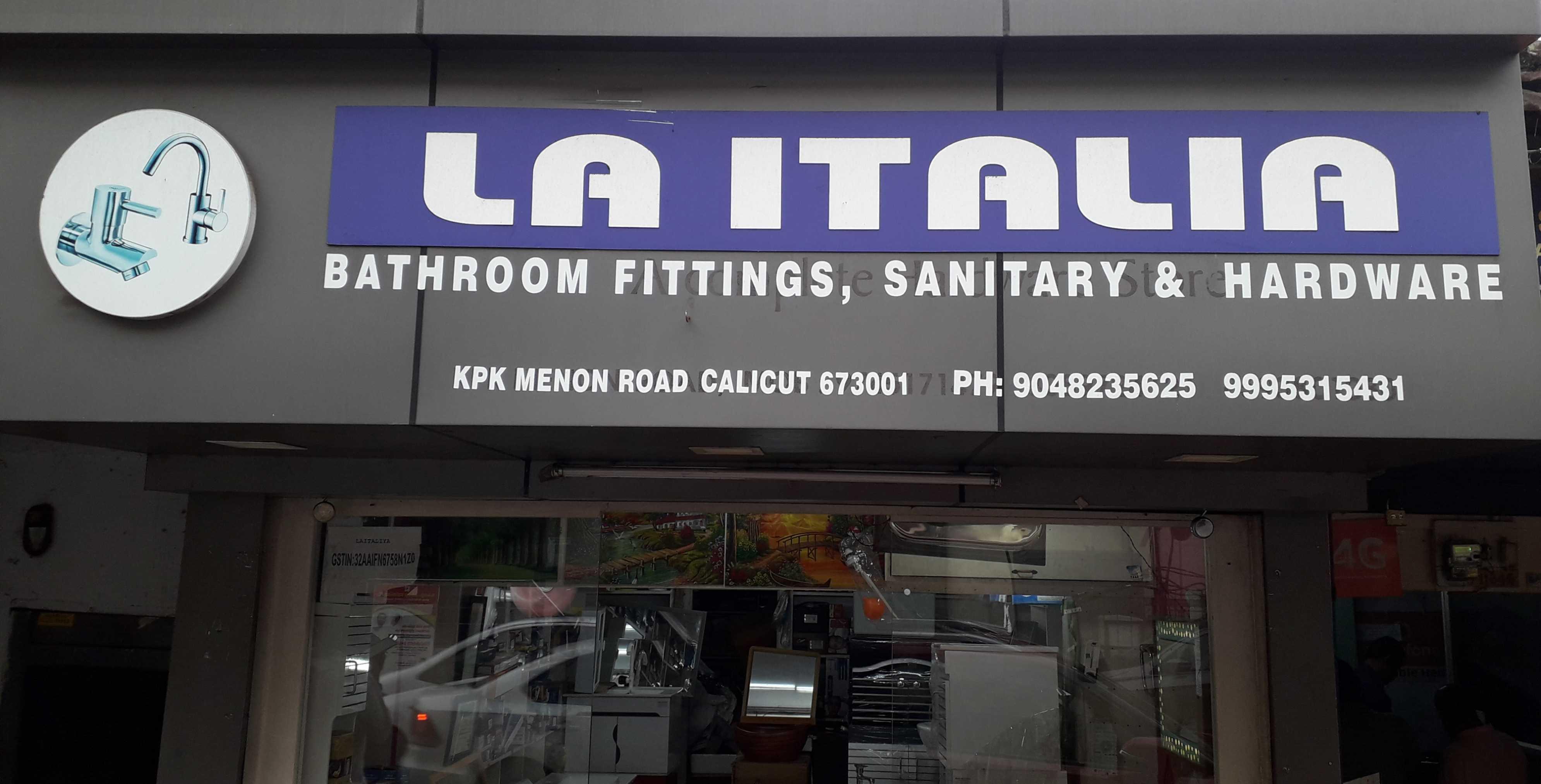 LA ITALIA, SANITARY SHOP,  service in Kozhikode Town, Kozhikode