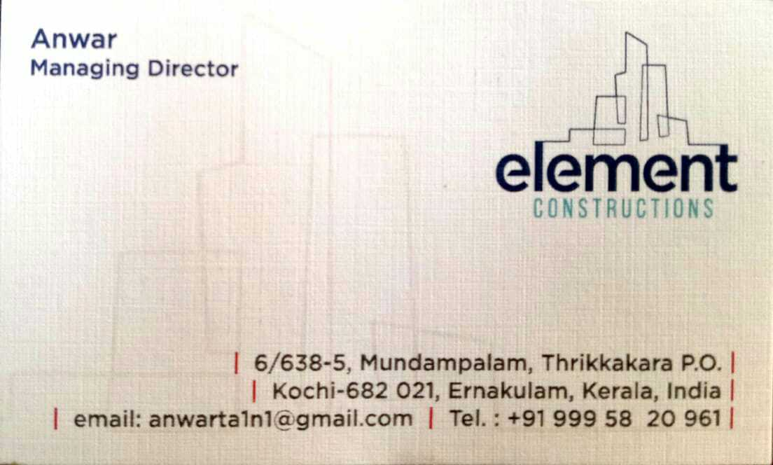 element constructions, CONSTRUCTION,  service in Kakkanad, Ernakulam