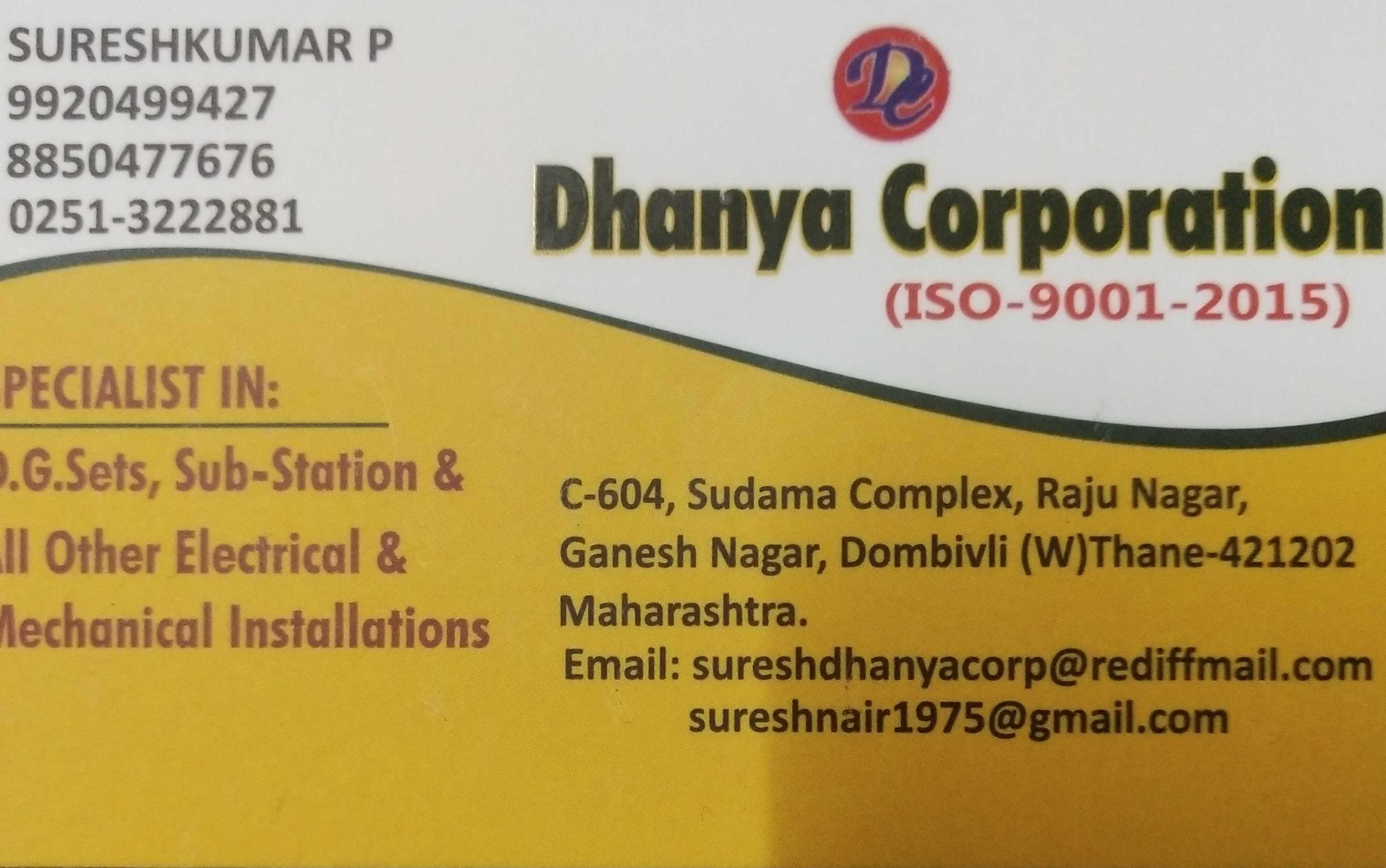 DHANYA CORPORATION, CONTRACTOR,  service in Pathiripala, Palakkad