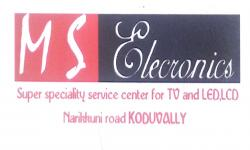 M S ELECTRONICS, ELECTRICAL REPAIRING,  service in Koduvally, Kozhikode